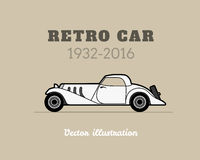 Retro cabriolet sport car, vintage collection Royalty Free Stock Image