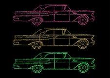 Retro Cadillac, car. Vector - illustration Stock Photography