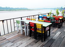 Retro cafe Mekhong Royalty Free Stock Image