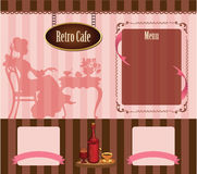 Retro cafe template Stock Photography