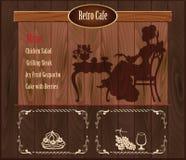 Retro cafe template Royalty Free Stock Photos