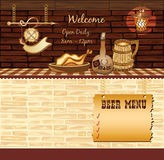 Retro Cafe Web Template Stock Image