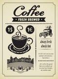 Retro caffè Immagine Stock Libera da Diritti