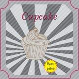 Retro cakes label Stock Photo