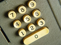 Retro Calculator. Photo of Old Calculator Buttons Stock Photo