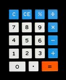 Retro calculator keypad Royalty Free Stock Photos