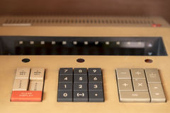 Retro calculator keypad buttons Royalty Free Stock Images