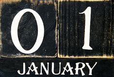Retro - calendário Foto de Stock