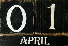 Retro - calendario Immagini Stock Libere da Diritti