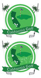 Retro california golf Royalty Free Stock Image