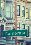 Retro California Street Sign Stock Images