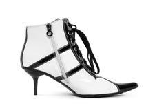 Retro calzature operate immagine stock