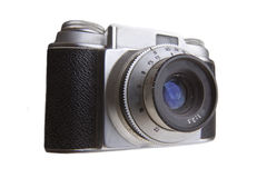 Retro Camera. Old 35 mm camera isolated on white Royalty Free Stock Photos