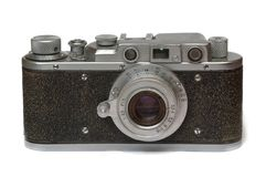 Retro camera. Isolated on white background Stock Photography