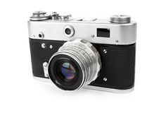 Retro Camera. Isolated on white Stock Photos