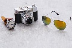 Retro camera Royalty-vrije Stock Foto's