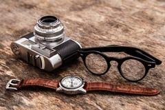 Retro camera Royalty-vrije Stock Afbeelding