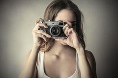 Retro camera Stock Foto