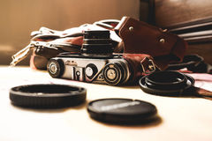 Retro camera stock foto's