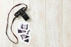 Retro camera background Stock Photo
