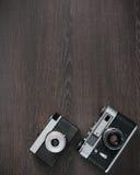 Retro camera background Royalty Free Stock Image