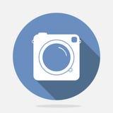 Retro Camera Blue Icon Royalty Free Stock Photography