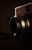 Retro camera closeup. Retro camera with low lighting Stock Photography