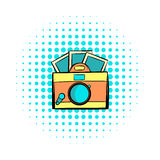 Retro camera comics icon Royalty Free Stock Photo