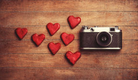 Retro camera Stock Photography
