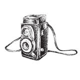 Retro Camera Doodle Royalty Free Stock Photos