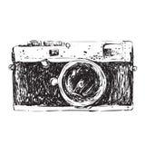 Retro Camera Doodle vector illustration