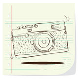 Retro Camera Doodle Royalty Free Stock Photography