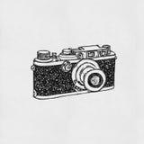 Retro camera drawing Stock Photos
