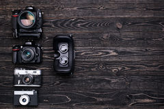Retro camera,DSLR camera,VR glasses Stock Images