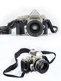 Retro Camera. Dslr Retro Camera on white background stock photography