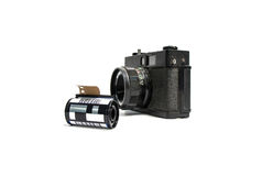 Retro camera film and Cartridge Camera film 35 mm Royalty Free Stock Image