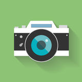 Retro Camera flat icon vector illustration Stock Photography