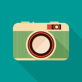 Retro camera icon. Stock Images