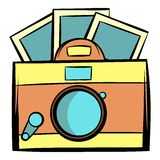 Retro camera icon cartoon Stock Photography