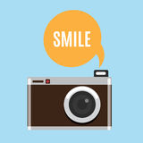 Retro Camera icon. Royalty Free Stock Photo
