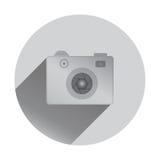 Retro camera icon with shadows, flat design. Retro camera icon, flat design, vector illustration Royalty Free Stock Photography