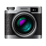 Retro camera icon Stock Images