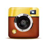 Retro Camera Icon Vector Illustration Royalty Free Stock Photography