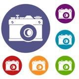 Retro camera icons set Royalty Free Stock Images