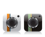 Retro camera icons Royalty Free Stock Image