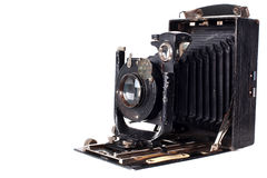 Retro camera isolated on white stock photography
