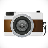 Retro camera. Isolated on white background Royalty Free Stock Images