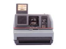 Retro camera isolated. On white background Stock Photos