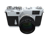 Retro Camera Isolated Royalty Free Stock Photography