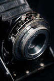 A retro camera lens close-up Royalty Free Stock Photography